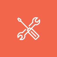 tools, wrench and screwdriver icon