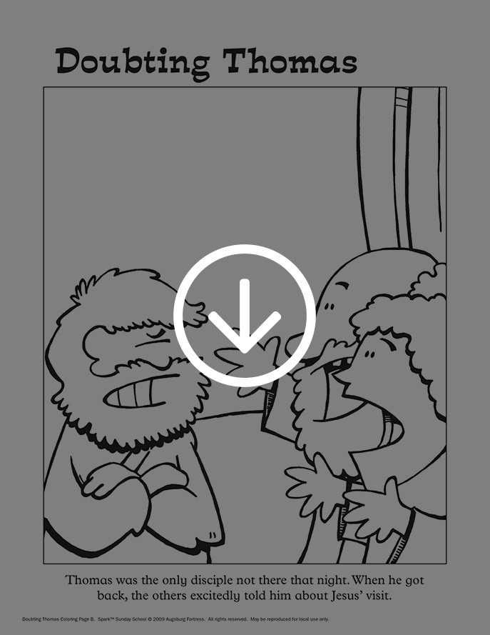 Doubting Thomas coloring page