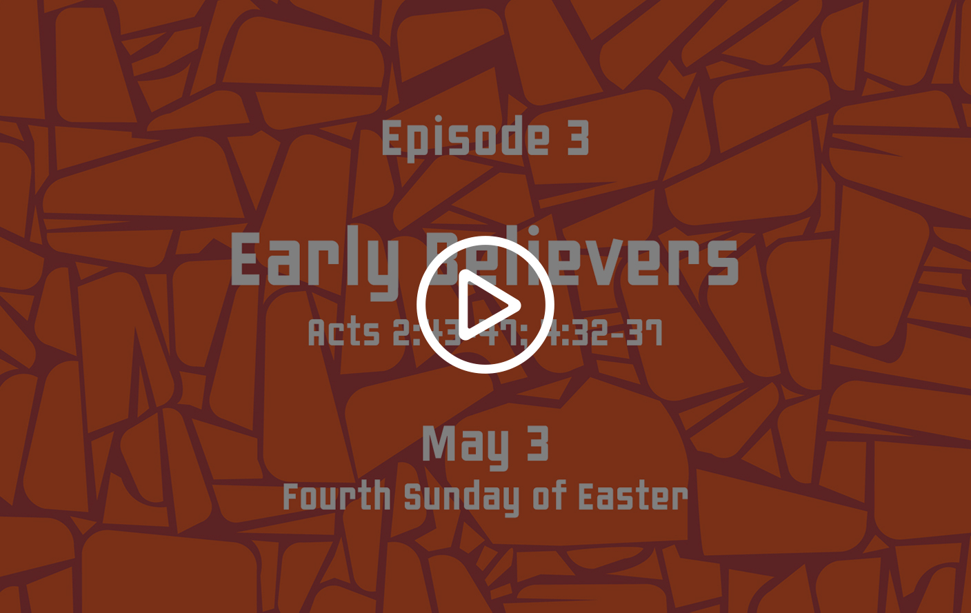 Family Sunday School –  May 3, 2020 – Early Believers