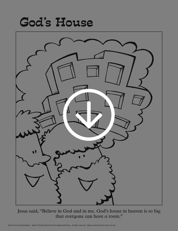 God's House coloring page