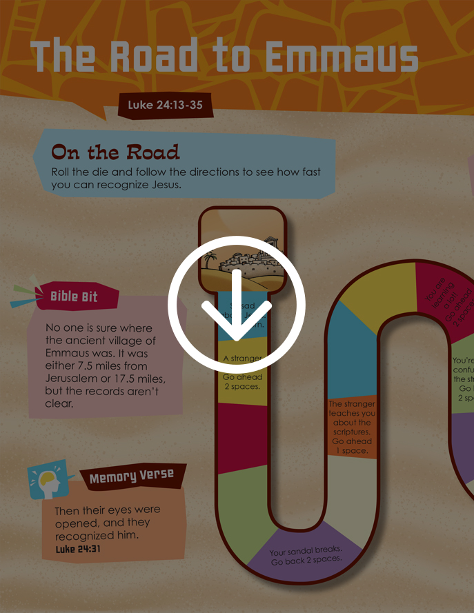 The Road to Emmaus activity page