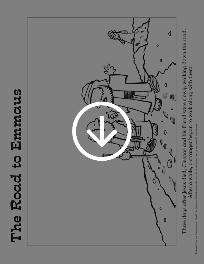 The Road to Emmaus coloring page